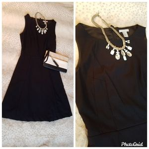 Black fit and flare dress size 6